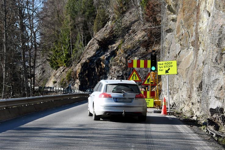 Fylkesveg 33 ble åpnet igjen onsdag kveld.