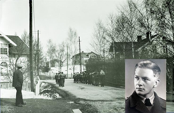 18 år gammel ble John Listerud soldat. Han meldte seg frivillig til styrkene som ble mobilisert i Lena-området.