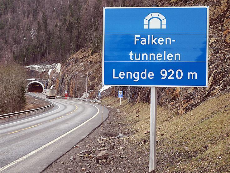 I neste uke må Falkentunnelen stenges av i forbindelse med testing, og bilistene må regne med ventetid.