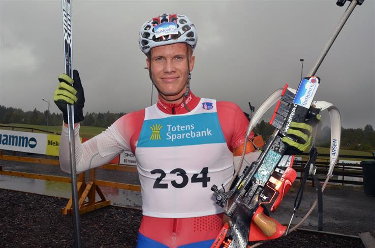 Mathias Indrelid Haugen hadde som mål å bli tatt ut til junior-VM i skiskyting. Det klarte han.