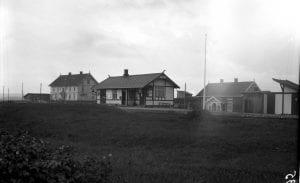 Kraby stasjon, trolig ca. 1925-27.