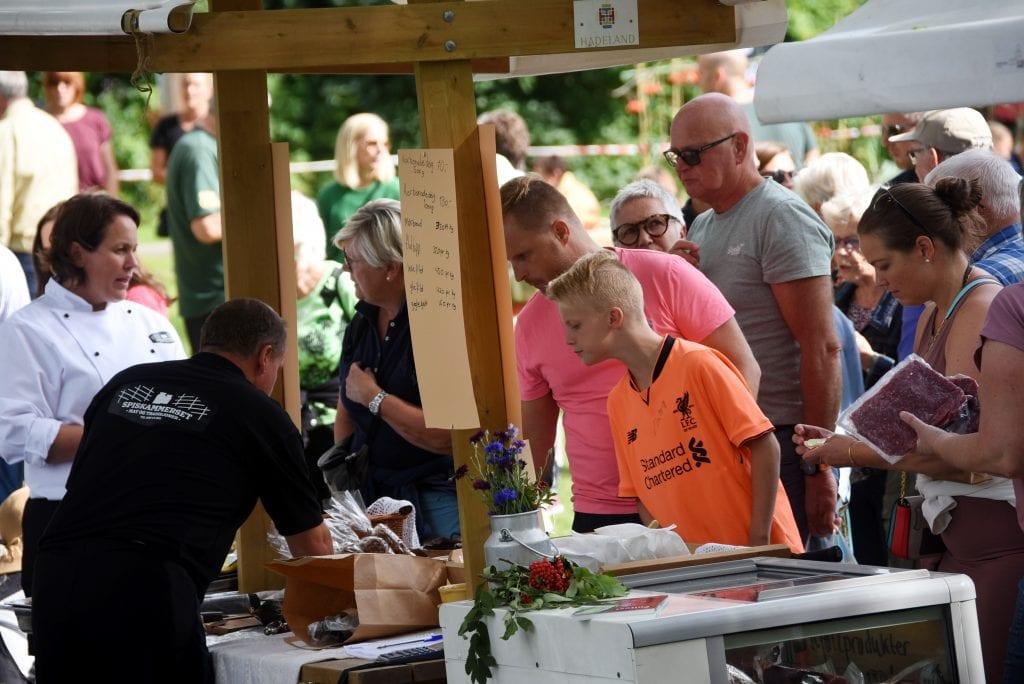 Produktene fra Spiskammerset på Kraby vakte interesse.